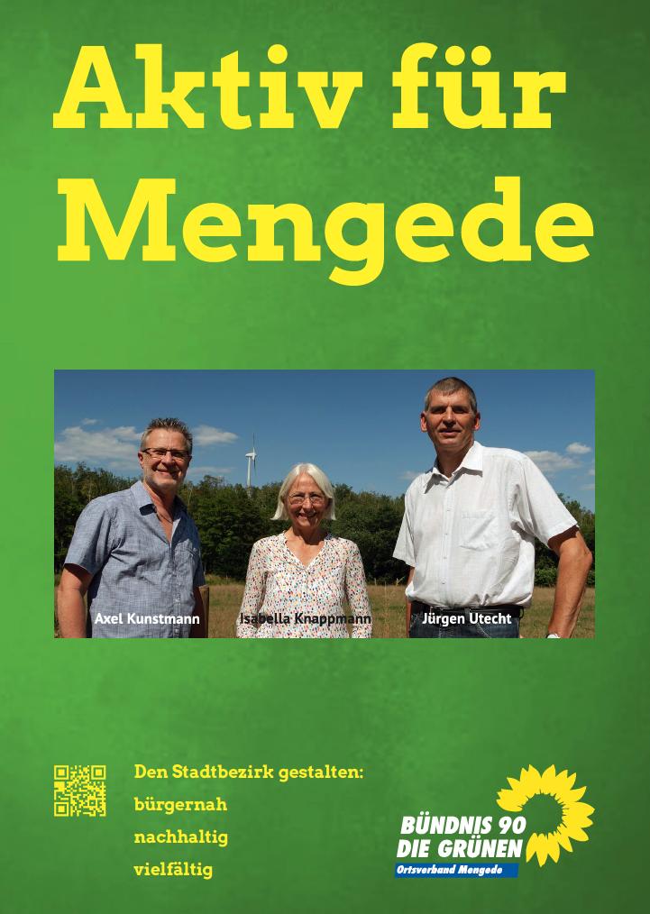 Wahlplakat Die Grünen